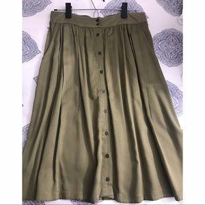 Forever 21 olive green midi skirt